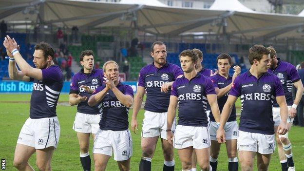 Scotland Sevens thank the crowd at Scotstoun last season