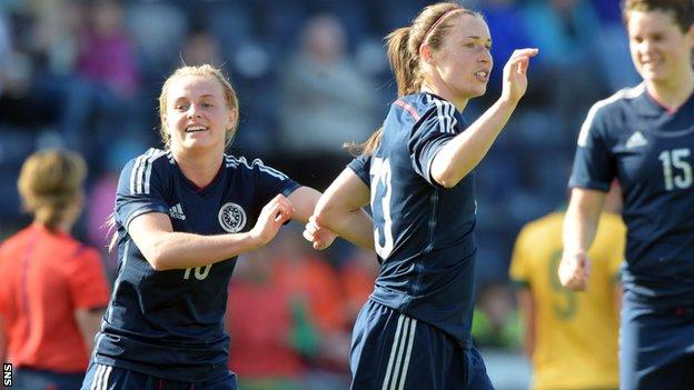 Jane Ross equalised for Scotland in the second half