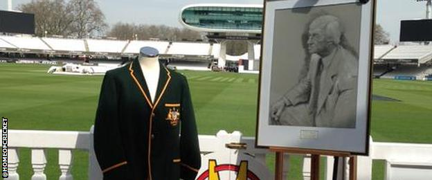 Tribute to Richie Benaud at Lords cricket ground