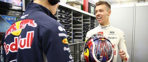 Red Bull's Daniil Kvyat impressed late on in P3, clocking a 1:39.106