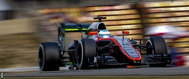 Fernando Alonso's session was cut short on his out lap