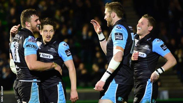 Glasgow Warriors are four points clear at the top of the Pro12 table