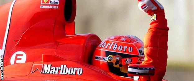 Michael Schumacher took the majority of his pole positions at Suzuka, with eight