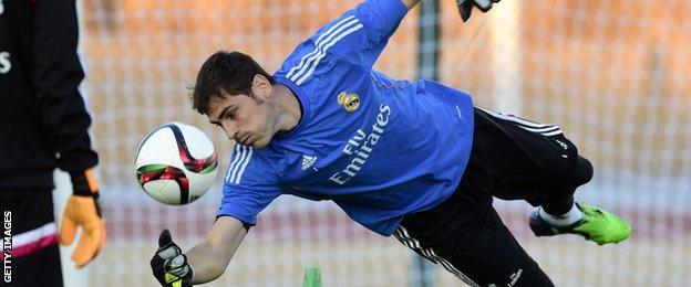Real Madrid goalkeeper Iker Casillas
