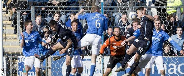 Dundee and St Johnstone players