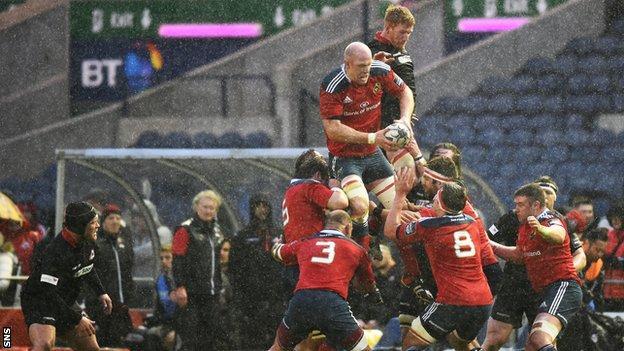 Edinburgh and Munster players