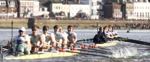 Oxford beat Cambridge in the Boat Race