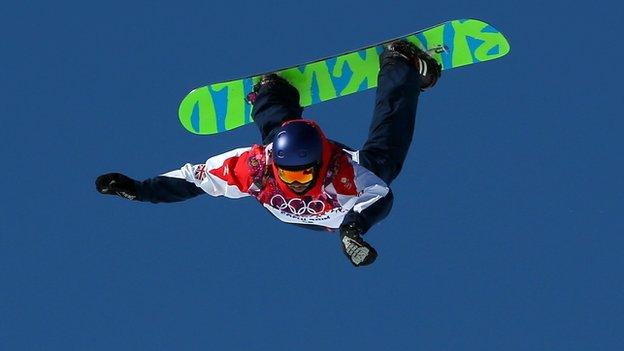 Billy Morgan competing at the 2014 Winter Olympics