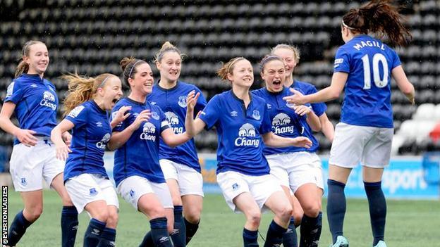 Everton celebrate Women's FA Cup win over Charlton
