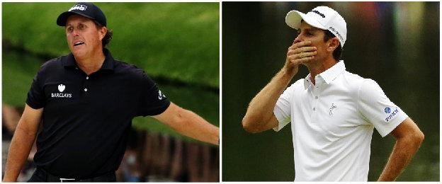 Phil Mickelson and Justin Rose