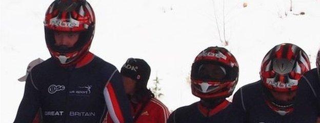 GB bobsleigh team including Will Golder