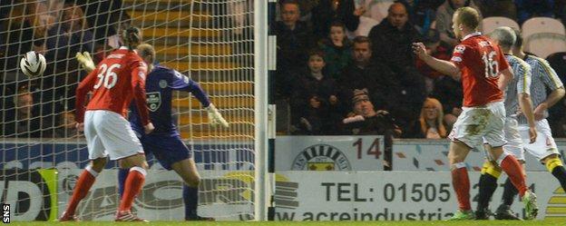 Liam Boyce puts Ross County 1-0 ahead