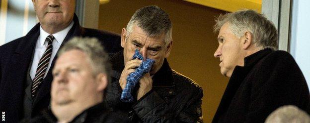 St Mirren chairman Stewart Gilmour in the stand