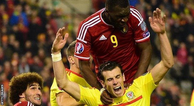 Christian Benteke played in Belgium's 0-0 draw with Wales in November 2014