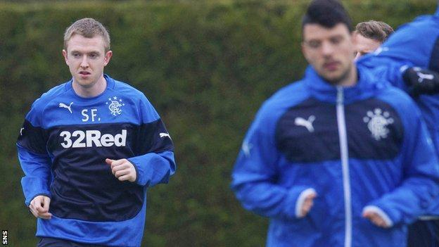 Newcastle's Shane Ferguson joins Rangers training