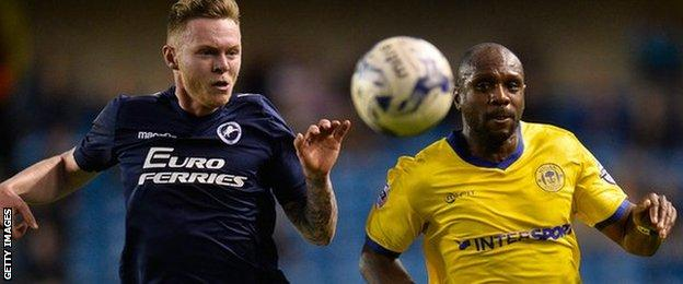 "Aiden O""Brien of Millwall FC and Emmerson Boyce of Wigan"