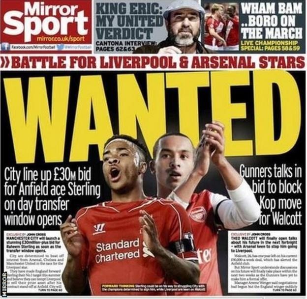 Backpage of the Mirror