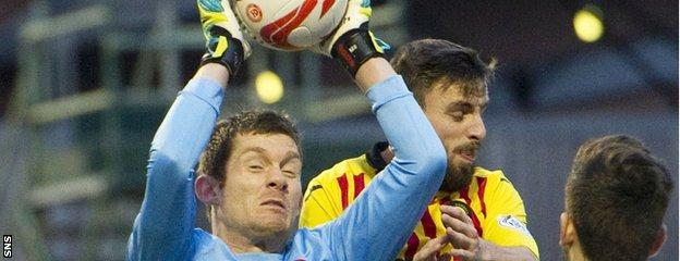 Hamilton Accies goalkeeper Michael McGovern is attracting interesting from West Brom