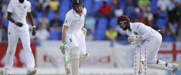 Ian Bell is run out