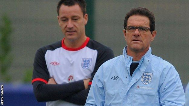 Fabio Capello and John Terry with England in 2011