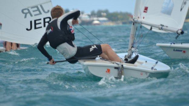 Sailing at the 2013 island Games in Bermuda