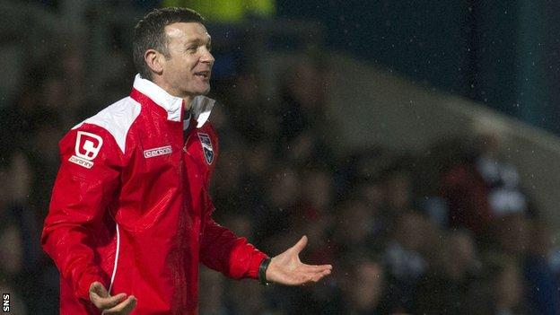 Ross County manager Jim McIntyre has won eight of the last nine games