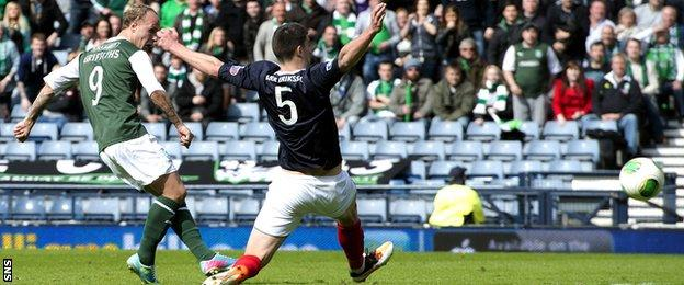 Falkirk squandered a 3-0 lead to lose 4-3 to Hibs in the 2012 Scottish Cup semi-final