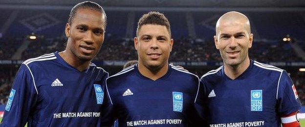 Didier Drogba, Ronaldo, Zinedine Zidane