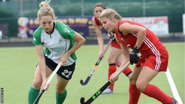 Nicola Daly in action against Wales in 2013