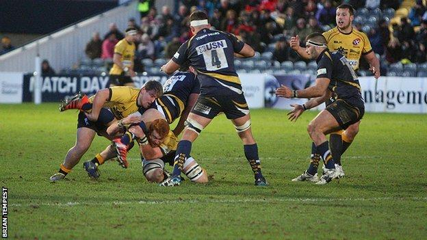 Worcester beat Cornish Pirates 62-26 at Sixways in January