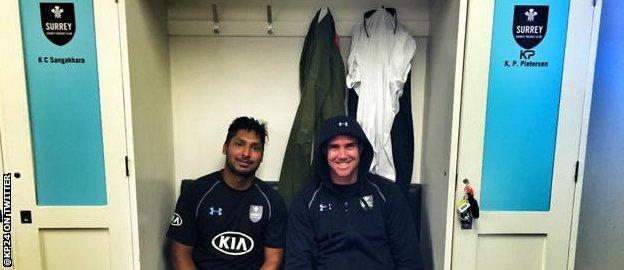 Kumar Sangakkara and Kevin Pietersen
