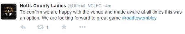 Notts County Ladies tweet