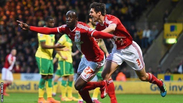 Norwich v Middlesbrough