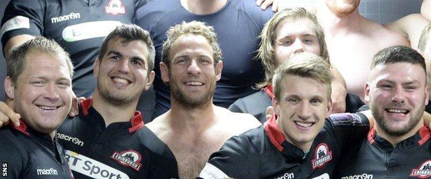 Edinburgh players celebrating