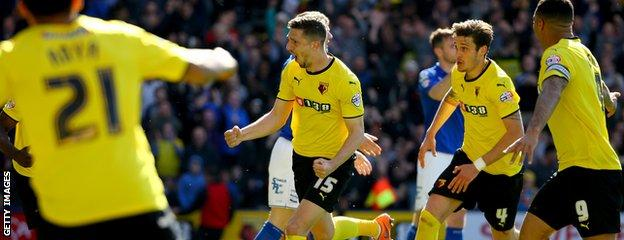 Craig Cathcart celebrates