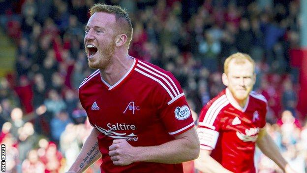Adam Rooney was on target for Aberdeen