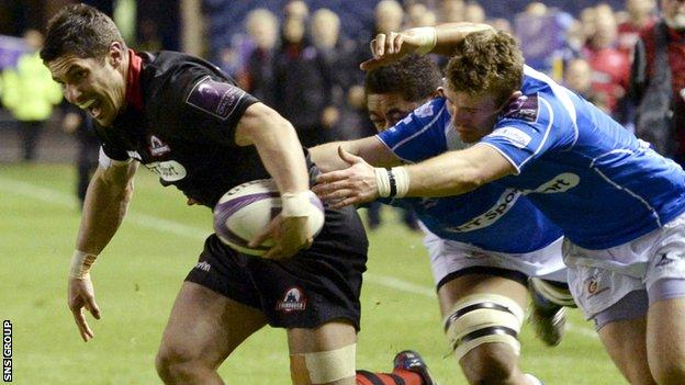 Phil Burleigh played a starring role for Edinburgh on Friday