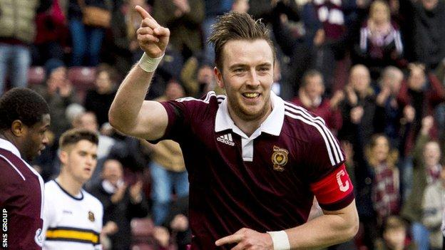 Hearts captain Danny Wilson