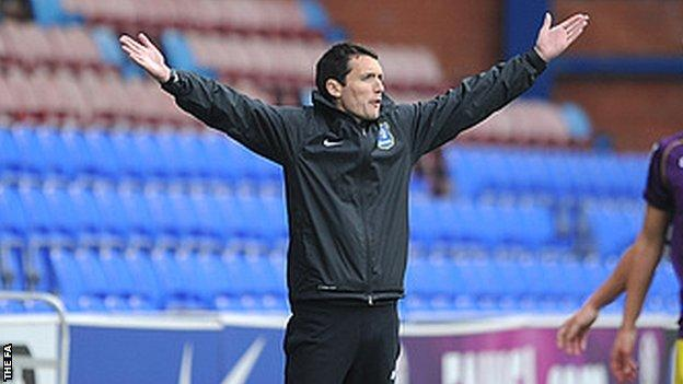 Everton Ladies manager Andy Spence