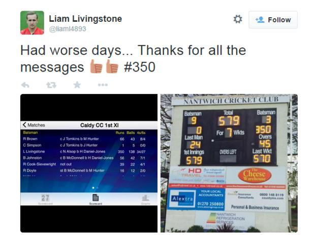 Liam Livingstone twitter