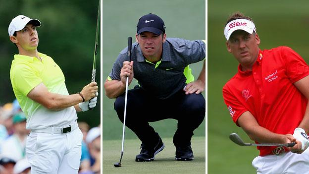Rory McIlroy, Paul Casey and Ian Poulter