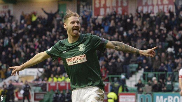 Hibs striker Martin Boyle was cup-tied for the Scottish Cup semi-final.