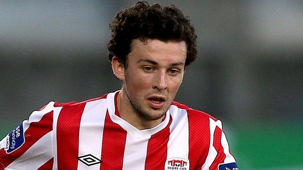 Barry McNamee scored from the spot for Derry City