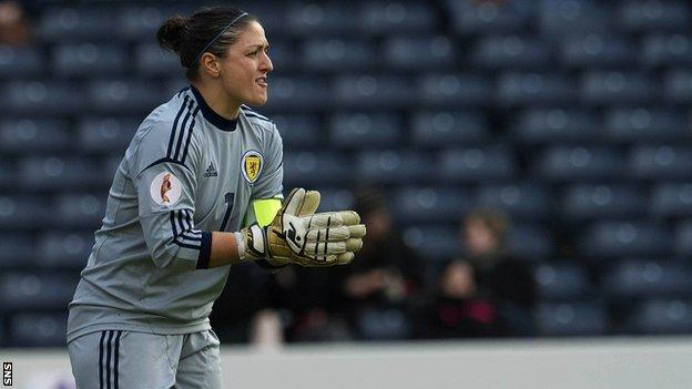 Goalkeeper Gemma Fay has more than 160 caps for Scotland