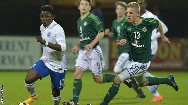 England against Northern Ireland