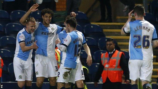 Blackburn celebrate against Millwall