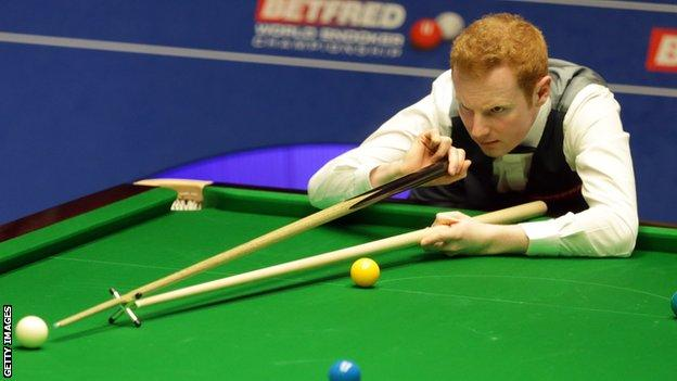Anthony McGill at the World Snooker Championship