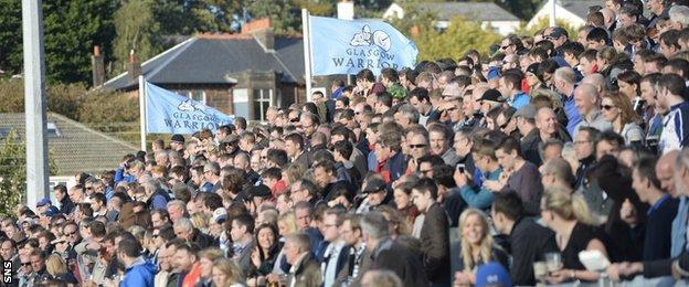 Scotstoun Stadium on matchday; Glasgow Warriors v Leinster, September 2014