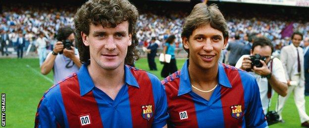 Mark Hughes and Gary Lineker