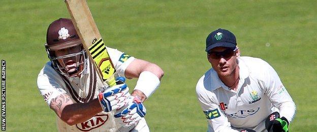 Kevin Pietersen in action against Glamorgan